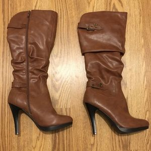Cathy Jean brown mid calf boot